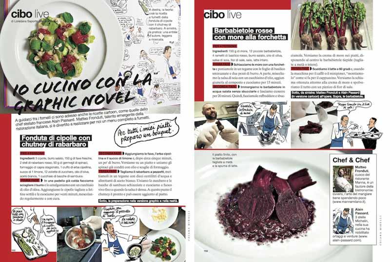 libro ricette cucina illustrazioni